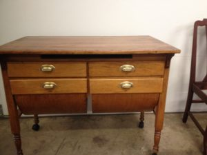 Refinished antique baking table