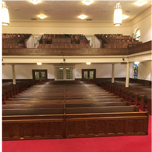Refinished church sanctuary