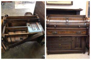 Repaired rolltop desk