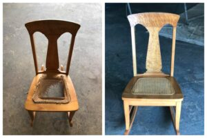 Re-caned chair seat