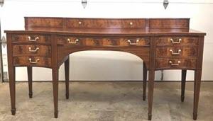 restored antique sideboard