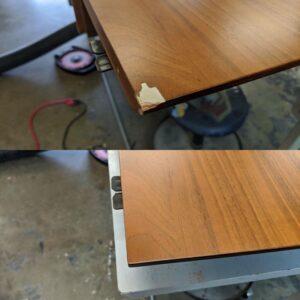 Veneer repair example