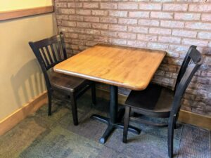 Refinished Restaurant Table and Chairs